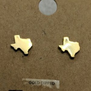 Gold Texas Earrings - Small